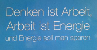 Energie Soll Man Sparen