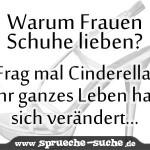 Warum Frauen Schuhe lieben? Frag mal Cinderella, ihr ganzes leben hat sich verändert...
