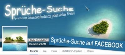 Werde Fan von Sprüche-Suche auf Facebook