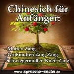 Chinesich für Anfänger: Mutter: Zang Großmutter: Zang Zang Schwiegermutter: Kneif Zang