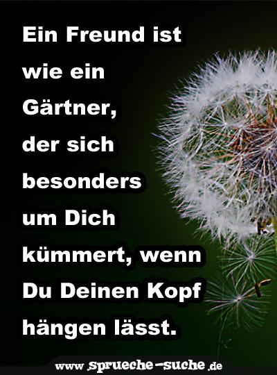 Ein Freund Ist Wie Ein Gärtner Der Sich Besonders Um Dich Kümmert