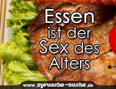 Essen ist der Sex des Alters