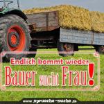 Spruch - Bauer sucht Frau