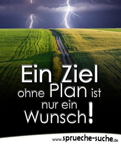 Schön Spruch Motivation U2013 Ein Ziel Ohne Plan Ist Nur Ein Wunsch