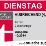 Stiftung Spruchtest – Wochentage: Dienstag