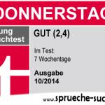 Stiftung Spruchtest – Wochentage: Donnerstag