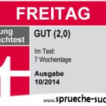 Stiftung Spruchtest – Wochentage: Freitag