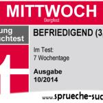 Stiftung Spruchtest – Wochentage: Mittwoch