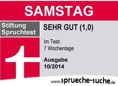 Stiftung Spruchtest – Wochentage: Samstag