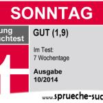 Stiftung Spruchtest – Wochentage: Sonntag