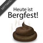 Lustiger Spruch mit Bild zum Mittwoch - Heute ist Bergfest!