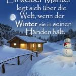 Ein weißer Mantel legt sich über die Welt, wenn der Winter sie in seinen Händen hält.