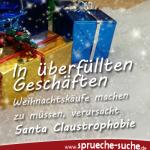 In überfüllten Geschäften Weihnachtskäufe machen zu müssen, verursacht Santa Claustrophobie