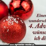 Einen wunderschönen 4. Advent wünsche ich dir!