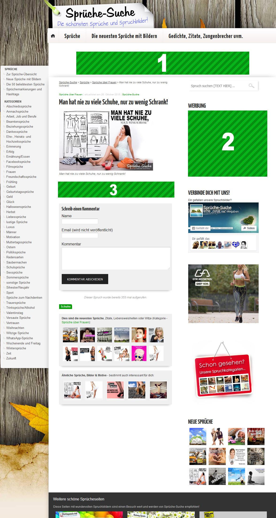 verfügbare Werbeplätze auf sprueche-suche.de