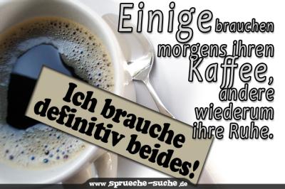 Einige brauchen morgens ihren Kaffee, andere wiederum ihre Ruhe. Ich brauche definitiv beides!