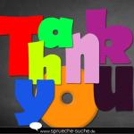 Spruch bild Thank you zum Versenden