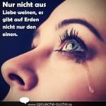 Nur nicht aus Liebe weinen, es gibt auf Erden nicht nur den einen.