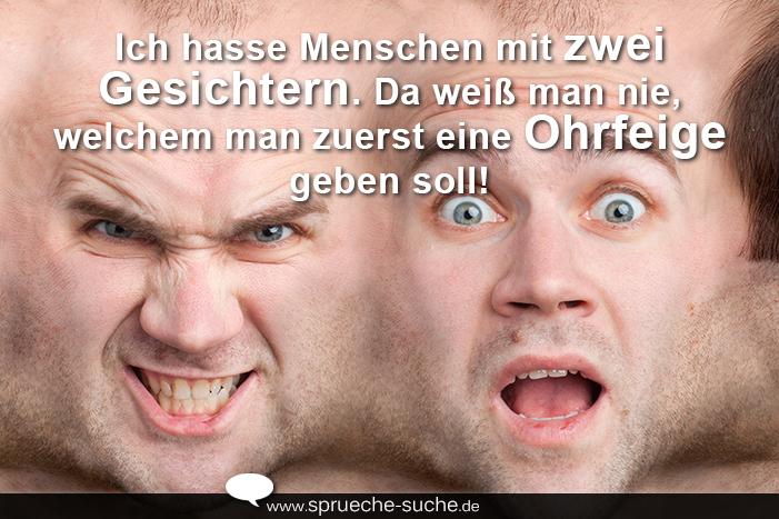 Sprüche Bilder - Menschen mit zwei Gesichtern - Sprüche-Suche