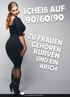 Abnehmwahn Scheiß Auf 906090 Sprüche Für Frauen
