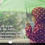Trauer Spruch - Wenn ich einen Wunsch frei hätte