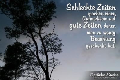 Spruch mit Baum im Wind nach Sonnenuntergang