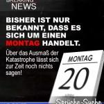 Spruchbild zum Wochenstart: Montagskatastrophe in den Breaking News