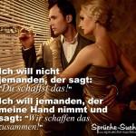 SPruchbild - Mann & Frau halten zusammen
