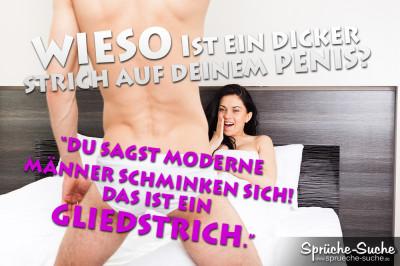 Dicker Strich Auf Deinem Penis Lustige Spruchbilder