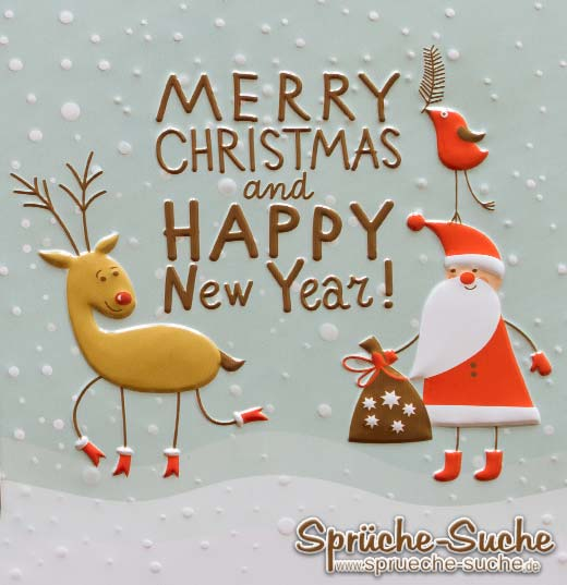 Merry Christmas and Happy new year - Sprüche-Suche