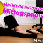 Sexy Spruchbild: Mittarbeiter machen es unter dem Schreibtisch im Büro, Sex