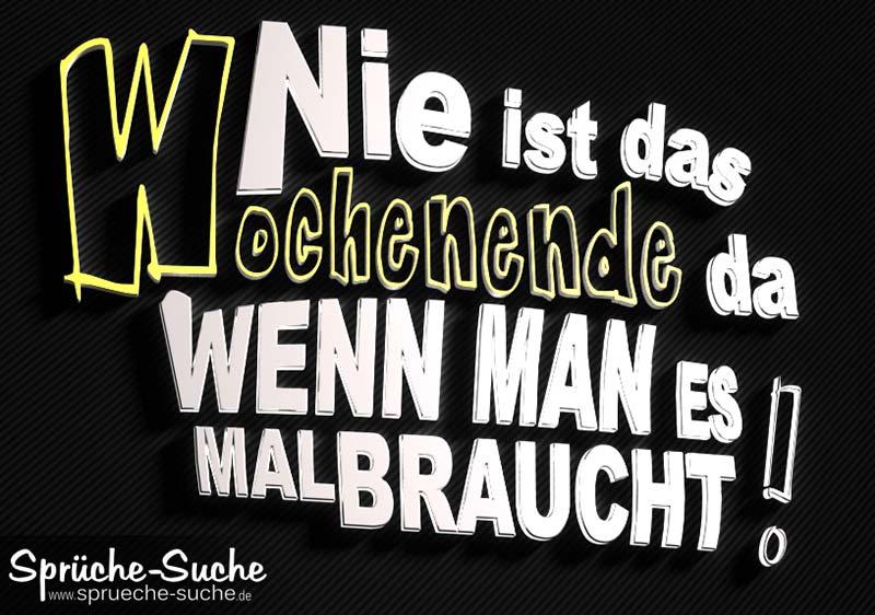 Spruchbilder 3D Wochenende - Sprüche-Suche