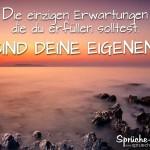 Spruchbild über dein Leben - Meer mit Sonnenaufgang