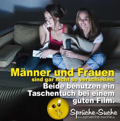 Spruchbild mit zwei jungen Frauen vorm Fernseher
