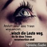 Sprüchbild - Weinendes Auge