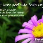 Blüte mit Beziehungsspruch