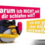 Sexspruch mit Bild und Pinguin