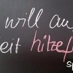 Ich will auf Arbeit hitzefrei auf Tafel geschrieben
