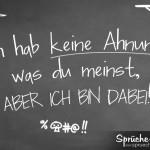 Lustiger Spruch mit Kreide auf Tafel geschrieben