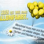 Aufmunterndes Spruchbild mit gelben Ballons und schönem Spruch