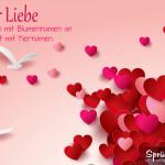 Schönes Spruchbild über die Liebe