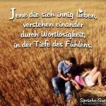 Pärchen im Kornfeld - Liebesspruch