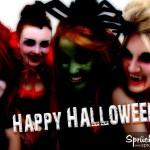 Verkleidete Mädels zu Halloween