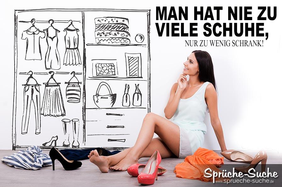 schuhe spr che frauen zu wenig schrank spr che suche. Black Bedroom Furniture Sets. Home Design Ideas