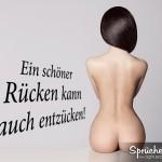Redensart Ein schöner Rücken - Nackte Frau mit schwarzen Haaren