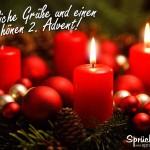 Adventskranz mit einer Kerze zum 2. Advent