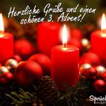 Adventskranz mit einer Kerze zum 3. Advent