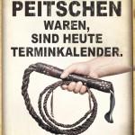 Wahres Bild zum heutigen Berufsstress - Peitscge in der Hand