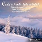 Schönes Spruchbild über das leben mit Winterlandschaft