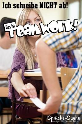 Schule - Teamwork - Spruchbild